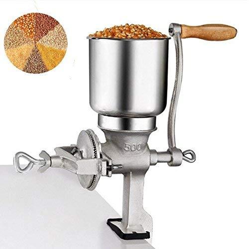 Grano de Mano Molino Manual Cereal de maíz Molinillo de Cerveza Herramienta de elaboración de Cerveza Harina Café Comida Trigo Molinillo Manual Manivela Cast