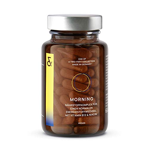 CLAV N°1 MORNING | Energy Booster | mit Carnipure® + Grüntee + Guarana + Vitamin B12 | beliebt bei Diät + Definition | 60 Kapseln Vegan