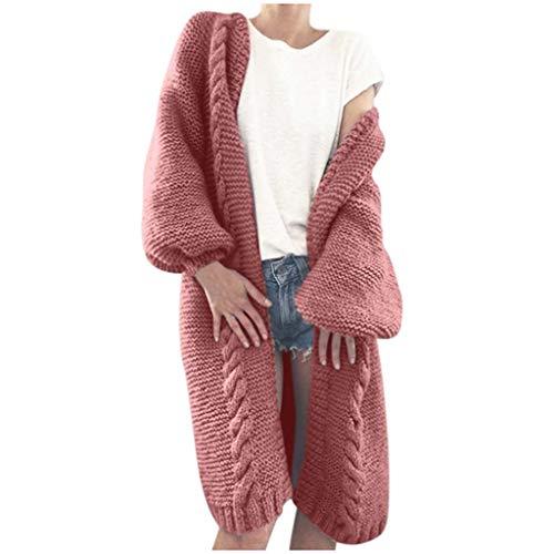 Komise Frauen Casual Langarm Solide Strickjacke Mantel Mit Taschen