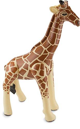 cama24com Aufblasbare Giraffe Safari-Dschungel-Motto-Party-Deko Aufblastier Palandi®