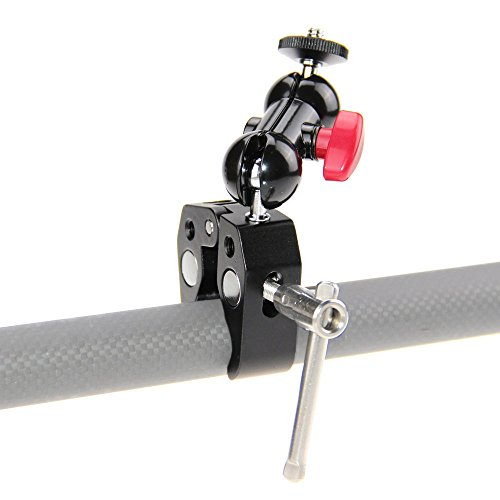 CAMVATE Pole Clamp Mount with Super Clamp and 360 Degree Rotating Mini Ball Head for Mini 7',8' Monitor