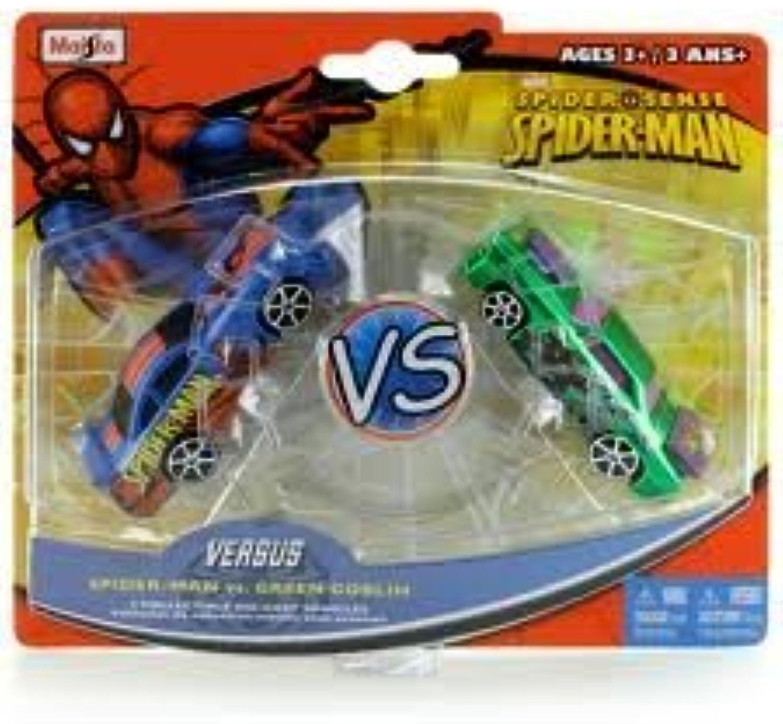 Spider Sense Spider-man Versus 2 Collectible Die-cast Vehicles Set - Spider-man Vs. Grün Goblin by Maisto