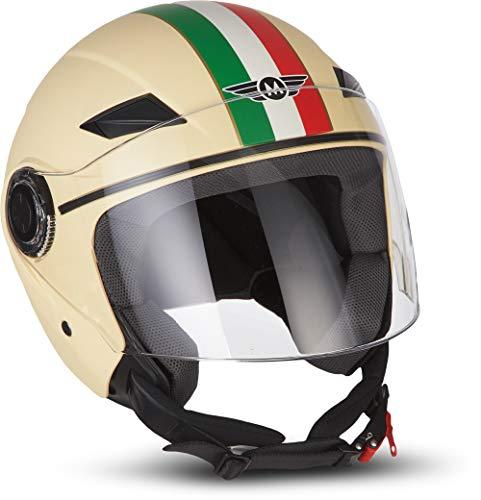 MOTO Helmets U52 - Casco de moto, visera ECE, cierre rápido, con bolsa de transporte