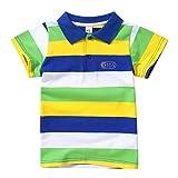 Miyanuby Bebe Niño Camisa Polo Classic Fit Polo A Rayas De Manga Corta Camiseta para Niños Camisetas De Verano Camisetas Tops 2-7 Años