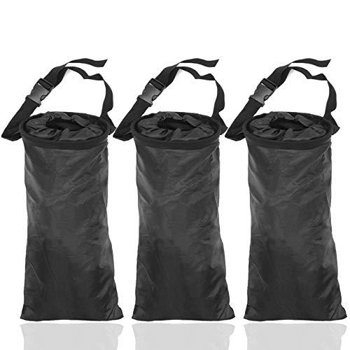 TIHOOD 3PCS Car Trash Bags Car Garbage Bag Hanging Detachable Garbage Bag for Car Trash Bag Hanging Back Seat Car Garbage Bag for Outdoor Traveling Home Use Car Storage Bags
