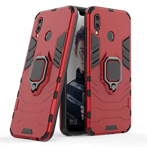 LuluMain Compatible avec Honor Play Coque, Anneau de Support Téléphone Voiture Magnétique Bague 360 Étui de Protection pour Huawei Honor Play (Rouge)