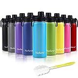 Trinkflasche Edelstahl Wasserflasche, 540ml Vakuum Isolierte Edelstahl Trinkflasche aus Hochwertigem Edelstahl für Das Laufen, Fitness, Yoga, Im Freien und Camping | Frei von BPA