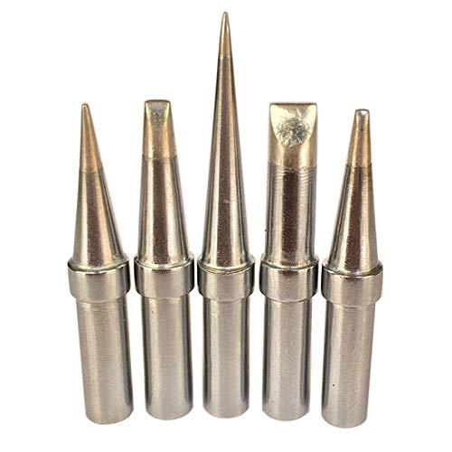 JIAN LIN 5pcs Soldador Hierro Tips Kit Soldadura Consejos de hierro para WESD51 WESD50 WCC100