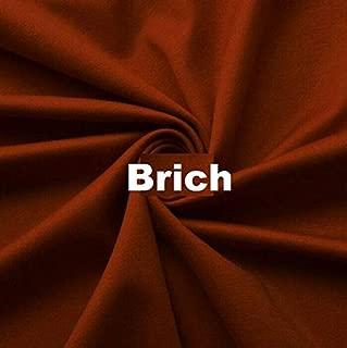 Wonderful Ponte DE Roma Jersey Knit Spandex Fabric by The Yard APPARELDRESS 2 Way Stretch (Brick)