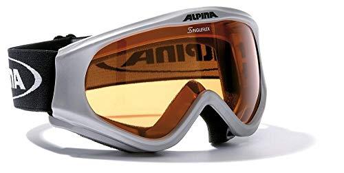 Kinder Skibrille Alpina DRIBER A70433 Modell 2013 div. Farben, Farbe:silber