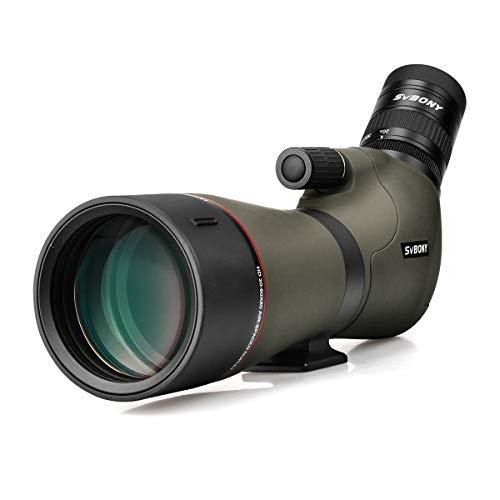 SVBONY SV46 Spotting Scopes 20-60x80,HD Dual Focus,for Target Shooting,Angled Long Range Scope,IPX7 High Power Waterproof,High Resolution,for Birding,Hunting,Wildlife Viewing,Archery,Stargazing