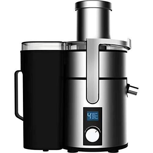 SXXYTCWL Hogar 1200W Potente de Acero Inoxidable Juicer LCD Pantalla LCD 220V Exprimidor eléctrico Fruta y Vegetal Dispensador de Agua de Plata jianyou (Color : Silver)