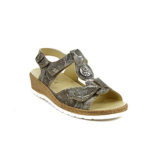 Belvida - Sandalen für: Damen, Mehrfarbig - Bedruckt - Größe: 38 EU