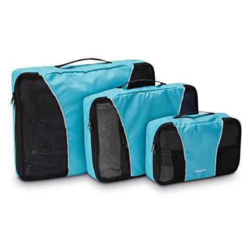 Samsonite Unisex-Erwachsene 3 Piece Packing Cube Set Reisetasche, Tote, blau, Einheitsgröße
