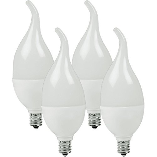 Dimmable LED Chandelier Bulb Flame Tip 4W Candelabra Curtis Mathes CM13-4101-830-11
