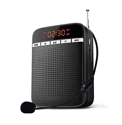 FM Radio, portátil de amplificación de Voz con Cable Micrófono Altavoz Altavoces duales magnéticos, Fuerte Poder de penetración, Conveniente for el Uso al Aire Libre por Maestros