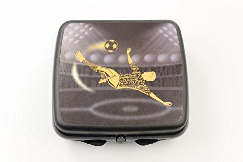TUPPERWARE To Go Sandwich-Box schwarz Fussball Brotbox Schule Pausenbrotbehälter