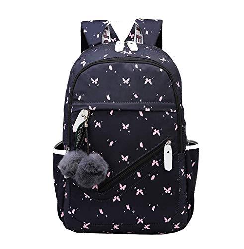 JUND Oxford-gewebe Schulrucksack für Jungen Schulrucksack Druck Rucksack Jugendlichen Schultasche Outdoor Reflektierender Daypack (blau2)