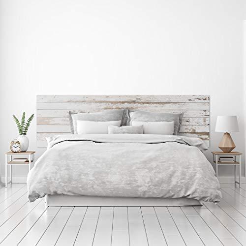 Megadecor Tête de lit décorative en PVC Texture Bois Vieilli Plusieurs Dimensions (200 cm x 60 cm)