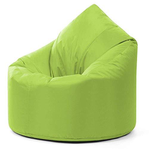 Asiento Puff XXG Gigante para Adultos – Puff de Lujo en Forma de Gota – Puff Verde Lima para Uso Interior y Exterior