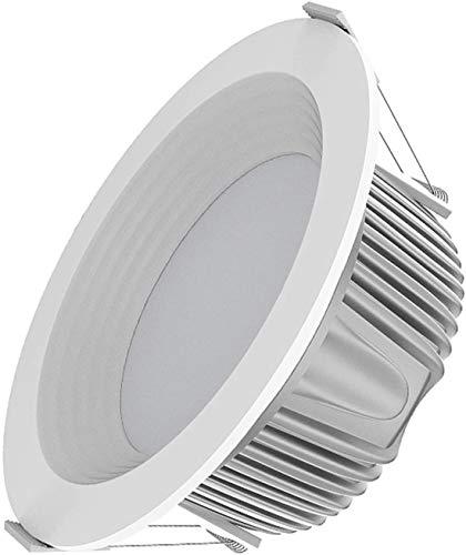 Dkdnjsk Empotrado Downlight 15W Super Bright LED Downlights Renderizado de alto color 85.+ Dormitorio LED Techo 155-175mm Panel DIA 180mm Downlight Down Lamp 110V-240V para sala de estar Hotel Hallway