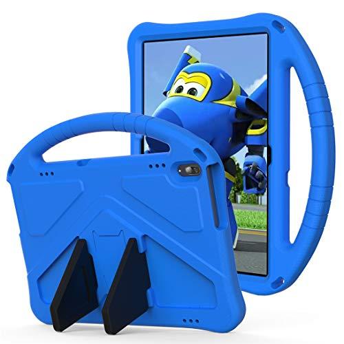 GOZOPO Kinder-Schutzhülle kompatibel mit Lenovo Tab P10 (TB-X705F)/Tab M10 Hülle (TB-X605F,TB-X505F) 25,7 cm (10,1 Zoll) 2019 – leicht & stoßfest Handgriff mit Standfunktion (blau)