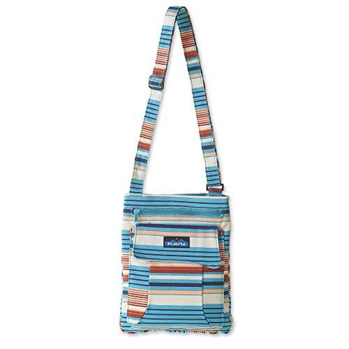 KAVU Keeper Semi Padded Sling Canvas Crossbody Bag - Cascade Stripe