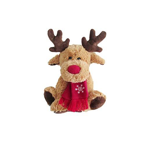 BESTOYARD Juguete de Peluche de Navidad Reno Ornamentos de Navidad para Navidad