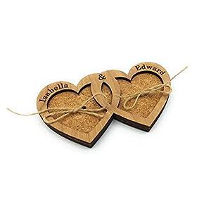 Eheringhalter, Ringträger für Hochzeit, Ring Box, Ringschachtel, Ringkästchen aus Holz und Kork