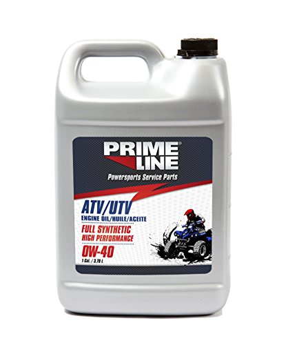 Prime Line 72-5101-3 Full Synesthetic High Performance 0W-40 Four Stroke Engine Oil, 1 Gallon, Silver