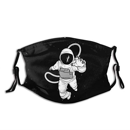 Disfraz de astronauta para adultos cara M-A-S-K, cómodo pasamontañas reutilizable bufanda ajustable para adultos (con 2 filtros)