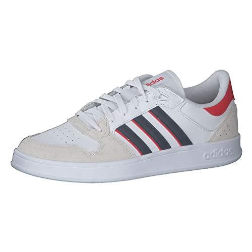 adidas BREAKNET Plus, Zapatillas de Tenis Hombre, FTWBLA/AZMATR/Rojint, 42 EU