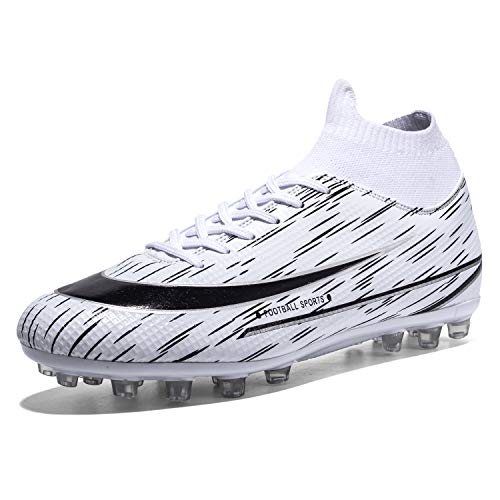 Zapatillas de Fútbol Hombre TF Spike Atletismo Training Zapatos de Fútbol Entrenamiento Niñas Aire Libre Atletismo