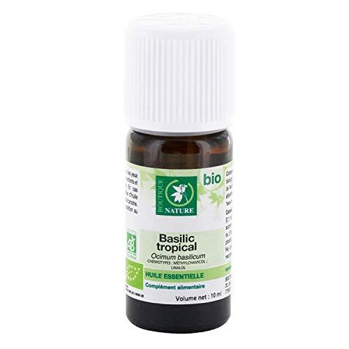 Boutique Nature - Huile Essentielle - Basilic Tropical BIO - Flacon de 10 ml