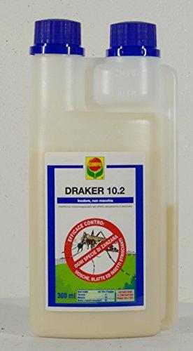 Compo 1746602005 Draker 10.2 Mosche E Zanzare, 300 Ml, Bianco, 4X10.1X20 Cm