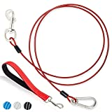 DMISOCHR new 5 FT dog leash meets the peace of mind for you and your dog to go out for a walk. This leash length is very suitable for your dog to move around without restricting its movement, or leaving too much room for maneuvering. You can also bet...