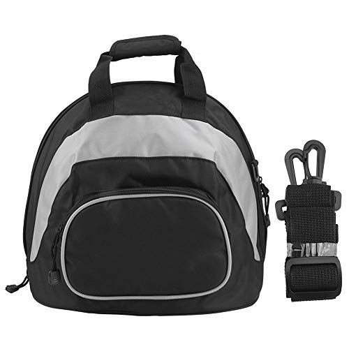 Helmtasche, wasserdichter Multifunktions-Motorradhelm Umhängetasche Rucksack Tragbares Gepäck(Grey + Black)