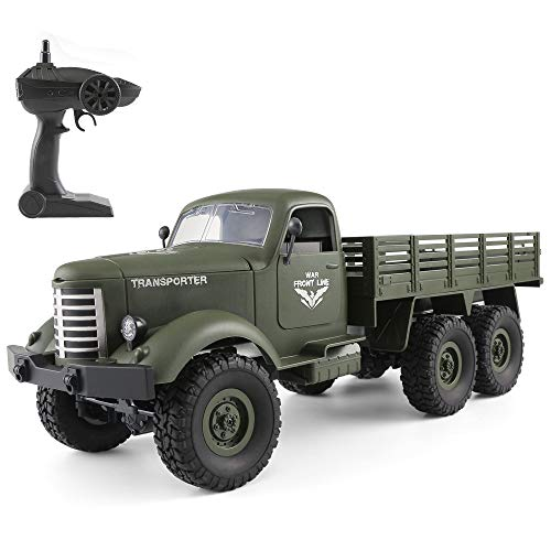 Goolsky JJR / C Q60 1/16 2.4G 6WD RC Off-Road Crawler Camión Militar Army Car Children Gift Kids Toy para Niños RTR