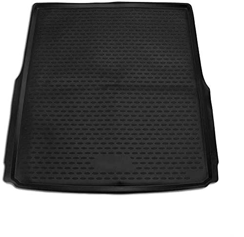OMAC Auto Kofferraummatte Laderaumwanne Kofferraumshutz Kompatibel mit VW Passat B8 Variant 2014-2021 | 3D Passform Hoher Rand Antirutschmatte TPE Matte Kofferraumwanne Allwetter Schwarz