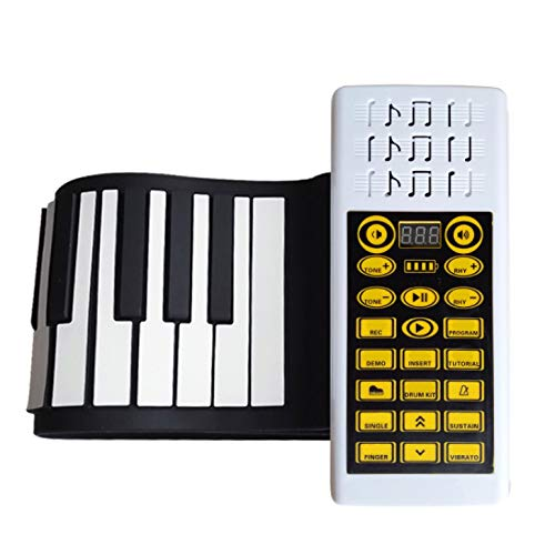 Affordable YIHANGG Hand Roll Piano 88 Keys Convenient Folding Electronic Organ Thickening Silica Gel...