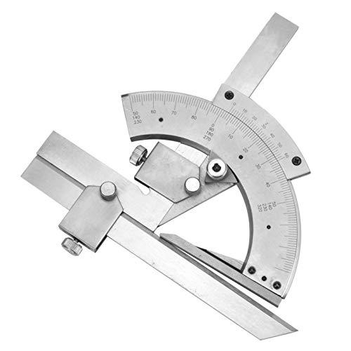 Transportador de bisel, calibre de ángulo, carpintero de alta precisión de acero al carbono de 0-320 ° DIY para construcción de carpintería