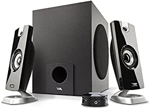 Cyber Acoustics 2.1 Subwoofer Speaker System with 18W of Power – Great for Music, Movies, Gaming, and Multimedia Computer Laptops (CA-3090) Green