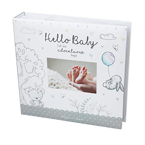 Widdle Celebrations Baby First Photo Album 4x6'' 200 Photos memo White Unisex Birthday Christening