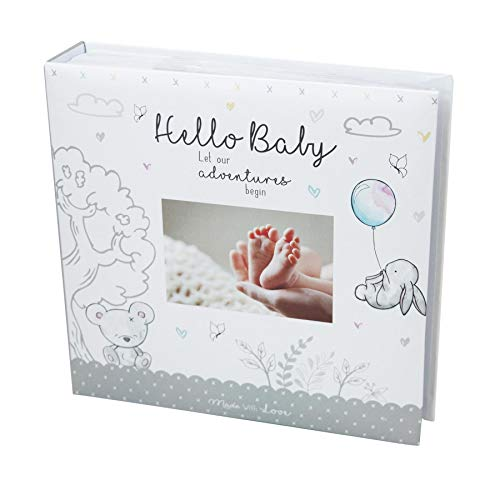 Fotoalbum für das erste Babyfoto, 10 x 15 cm, für 200 Fotos, Weiß