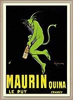 ポスター レオネット カピエッロ Maurin Quina le Puy 額装品 ウッドベーシックフレーム(オフホワイト)