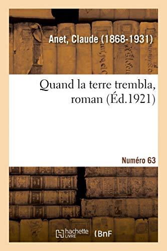 Quand la terre trembla, roman. Numéro 63: d'ouverture de l'année académique à l'Université de Turin
