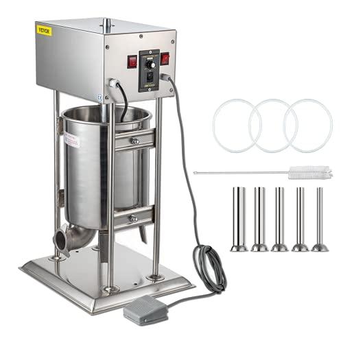Husuper Poussoir à Saucisses 15L Machine à Saucisse Electrique en Acier Inoxydable...