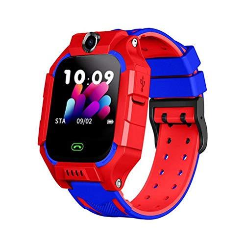 MAICOLA Reloj inteligente IPS de 1.4 pulgadas, llamada de dos vías SOS y GPS de doble posición, con IP67 impermeable y cámara dual de 0.3 MP píxeles para Android/Samsung/iPhone