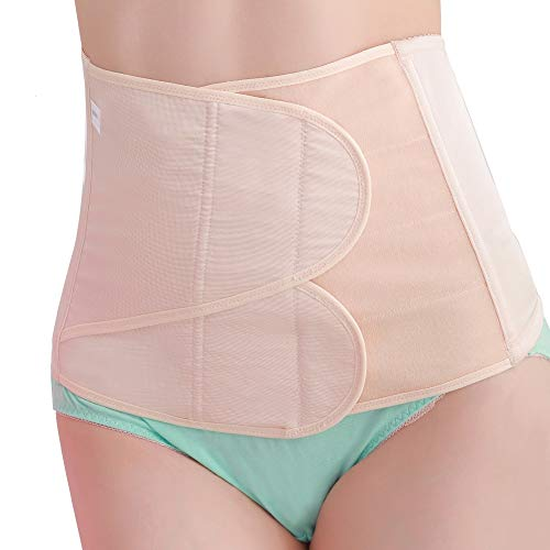Postpartum Gürtel Damen Rückbildungsgürtel nach Geburt Bauchband Postnatal Bauchgurt Bauchgürtel (M, Beige)