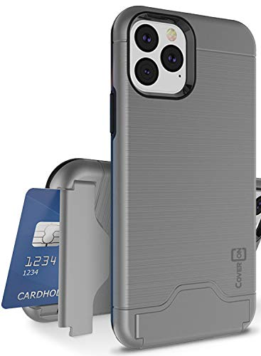 CoverON Protective Kickstand Credit Card Holder SecureCard Series iPhone 11 Pro Case (2019), Gunmetal Gray